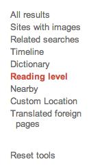 Nivel de lectura en Google