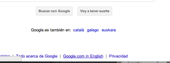Cambiar a Google English