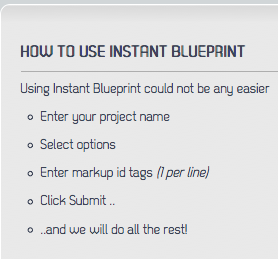 Instant Blueprint Options