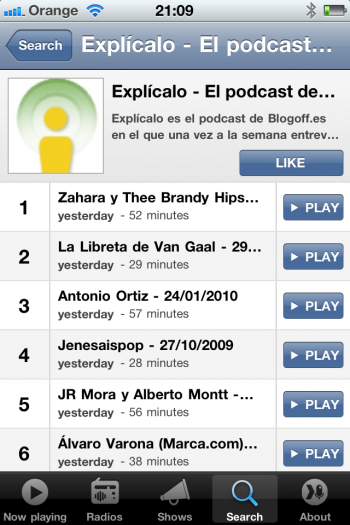 Explícalo Spreaker iPhone