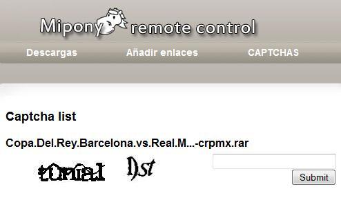 Captcha MyPony Remote