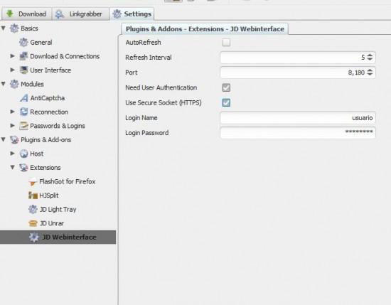 jDownloader Remote Config