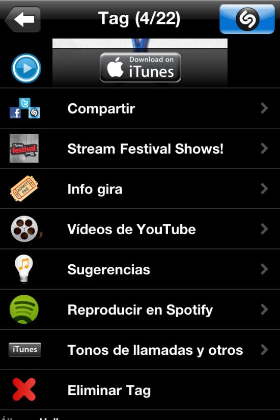 Spotify Shazam