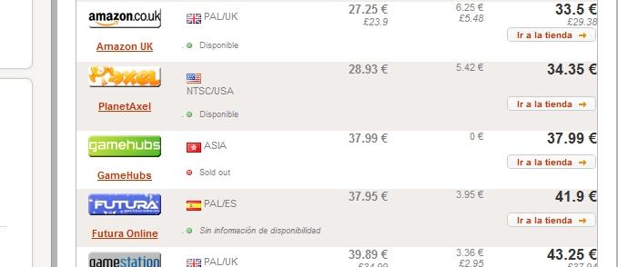 Comparativa precios juegos
