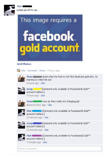 Facebook Gold Account