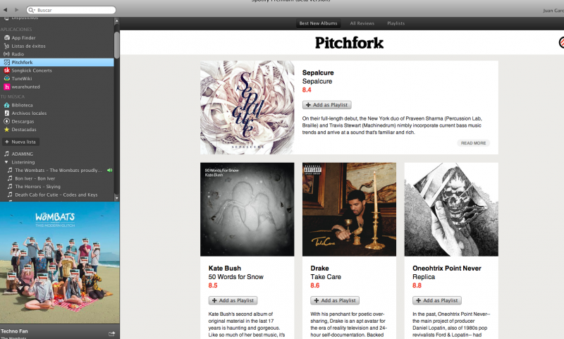 Spotify Pitchfork