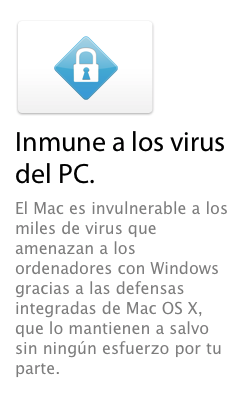 Apple no tiene virus