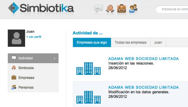 Adama Web en Simbiotika