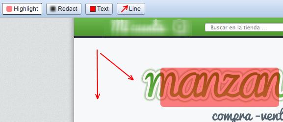 Opciones captura de pantalla