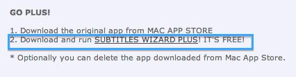 Subtitles Wizard Plus