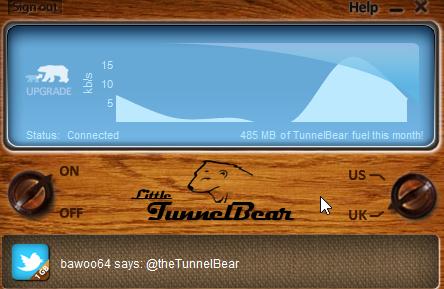 Tunnel Bear ON