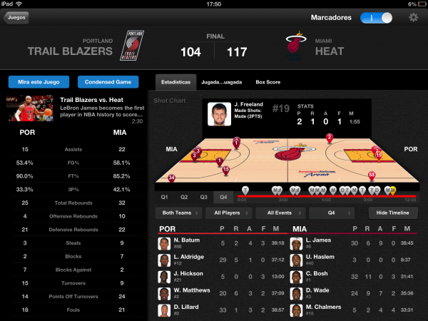 NBA League Pass iPad