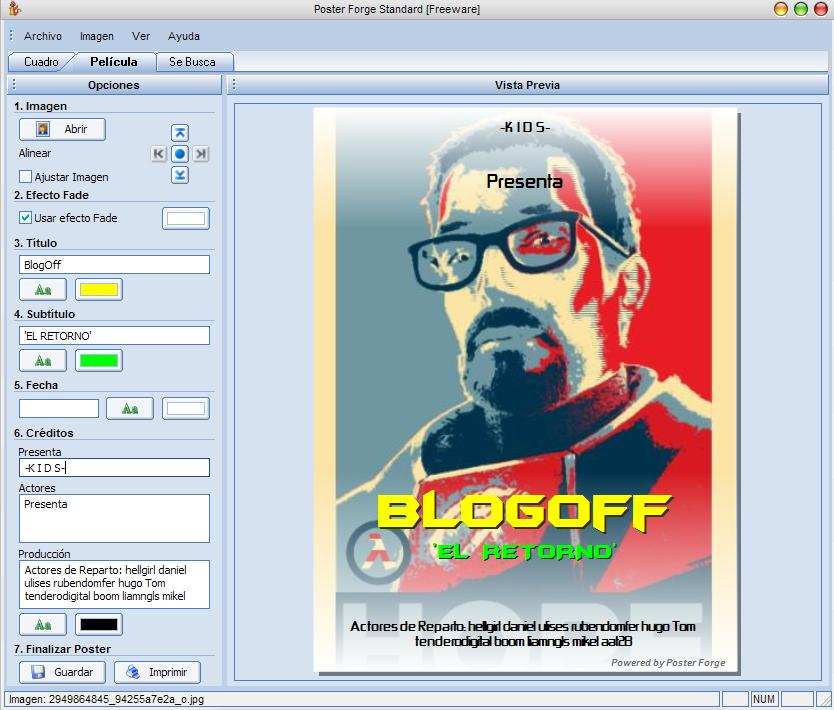 Programa para dise ar carteles blogoff for Programa para disenar muebles gratis espanol